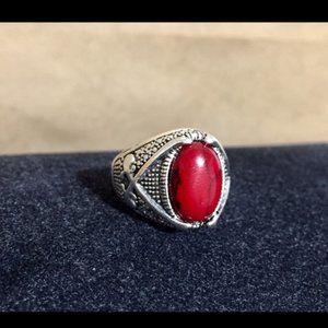 Turquoise Turkish Handmade Tibetan Silver Ring
